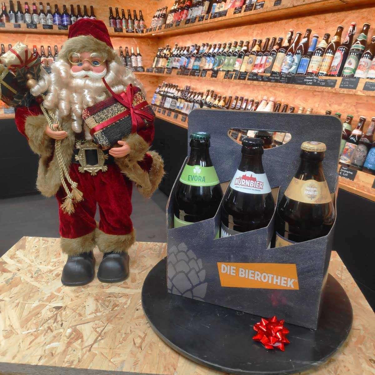 Sixpack mit ausgewählten Bierspezialitäten aus der Bierothek Fürth.